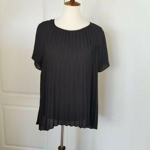 Michael Kors Pleated Short Sleeve Chiffon blouse